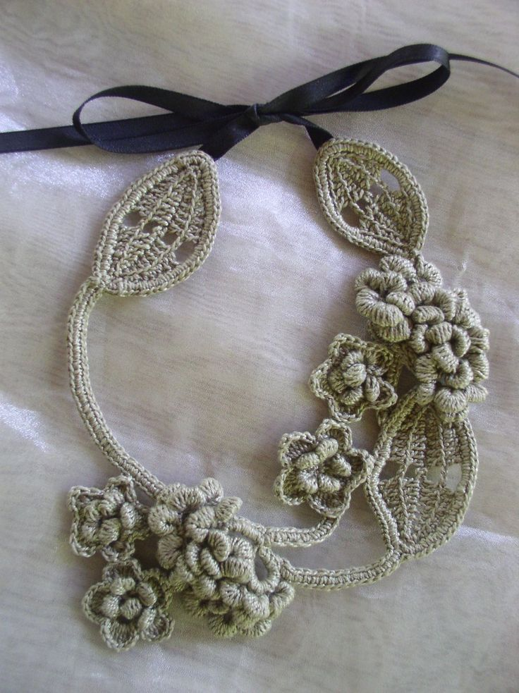 Crochet Patterns Free Jewelry : crochet necklace. free pattern Accesorios y detalles en ...