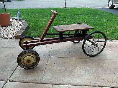 Antique irish mail cart scooter peddle car toy original for Irish mail cart plans
