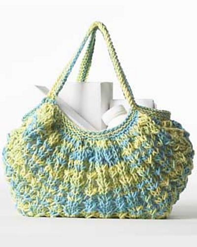 Knit Market Bag Pattern : Free pattern via Ravelry> Crochet Pinterest