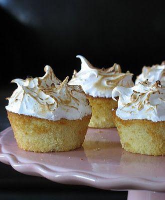Tartelette: Lemon Lime Meringue Cupcakes | sweets | Pinterest