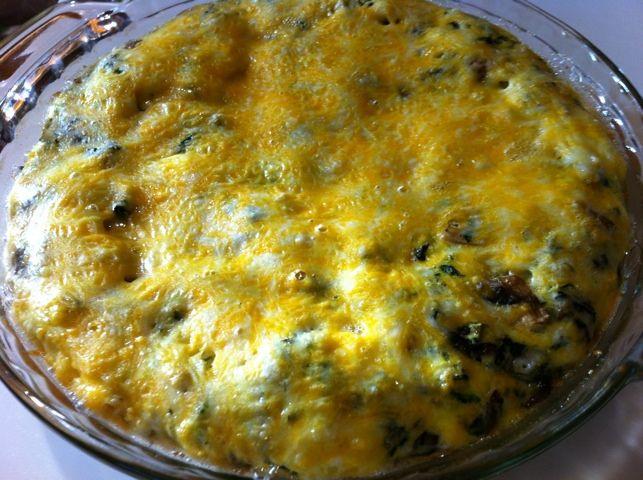 spinach and mushroom frittata | Marina's Primal Cooking