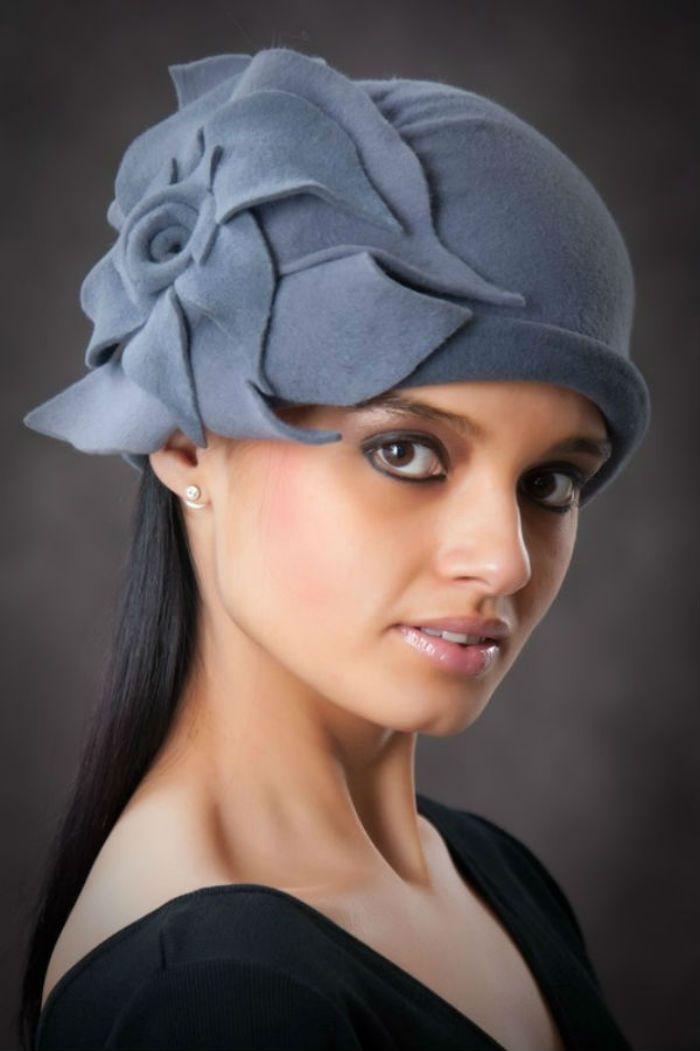 Женская шляпа из фетра своими руками 703