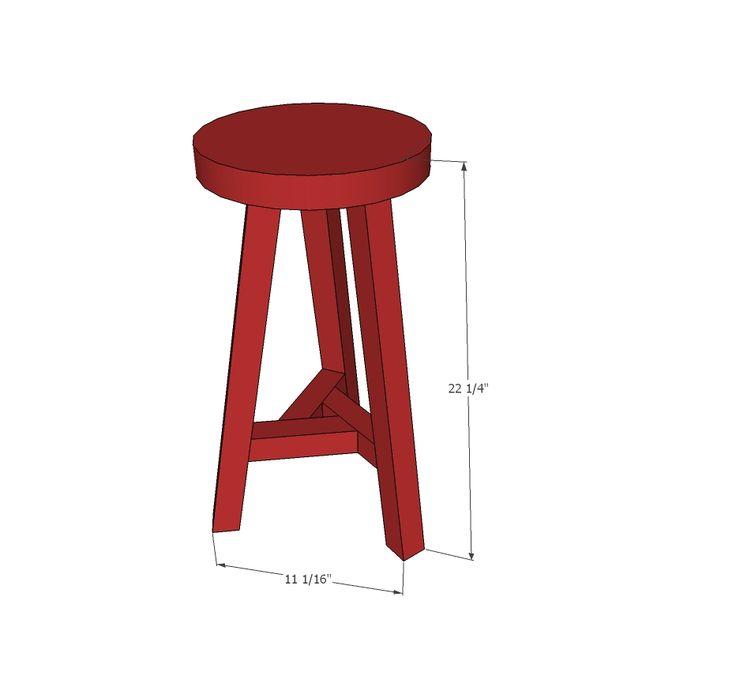Как сделать простой барный стул