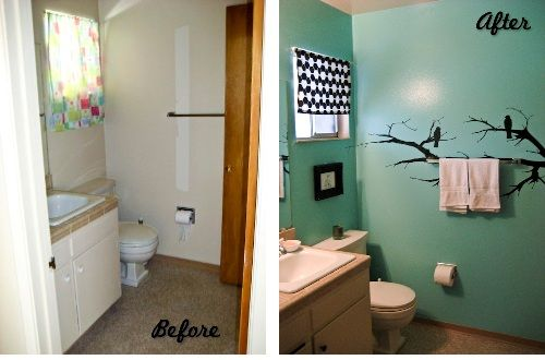 Small Bathroom Makeovers For The Home Pinterest