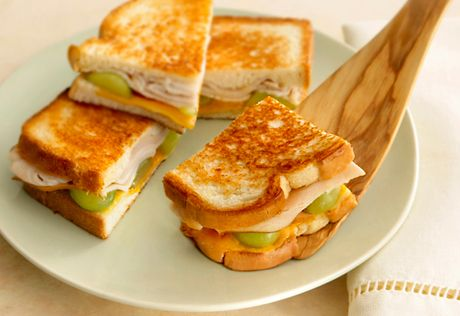 Grilled Turkey, Cheddar & Grape Sandwiches | Recipe