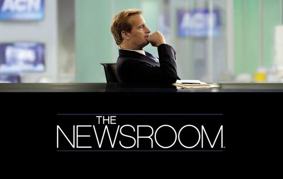 The Newsroom: Aaron is back and on fire. The best thing on TV since The West Wing...
