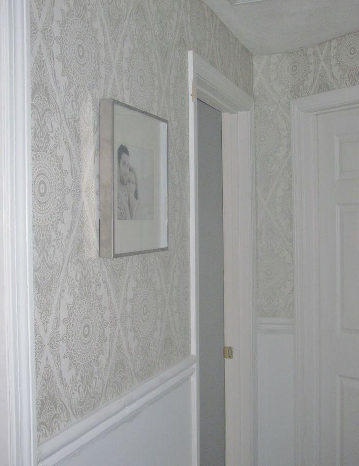 Kleuridee n voor de hal thuis viva forum - Wallpaper imitatie lambrisering ...