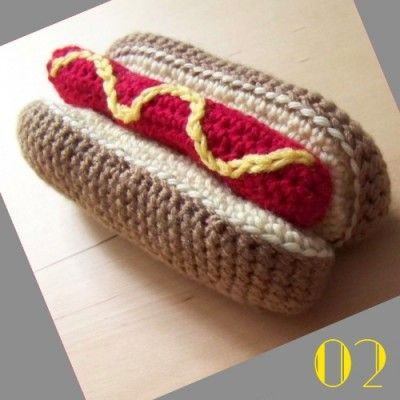 Free Crochet Hot Dog Pattern : 002-tuto-crochet-hotdog AMI CIBO - AMI FOOD Pinterest