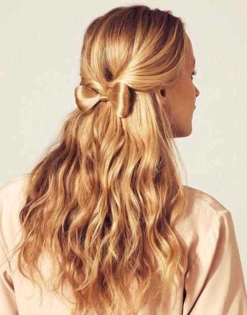 Hair bow cute hairstyles i wanna try pinterest