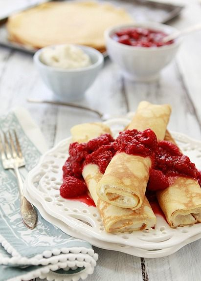 ... dessert? Check out this delicious recipe for crepes with ricotta and