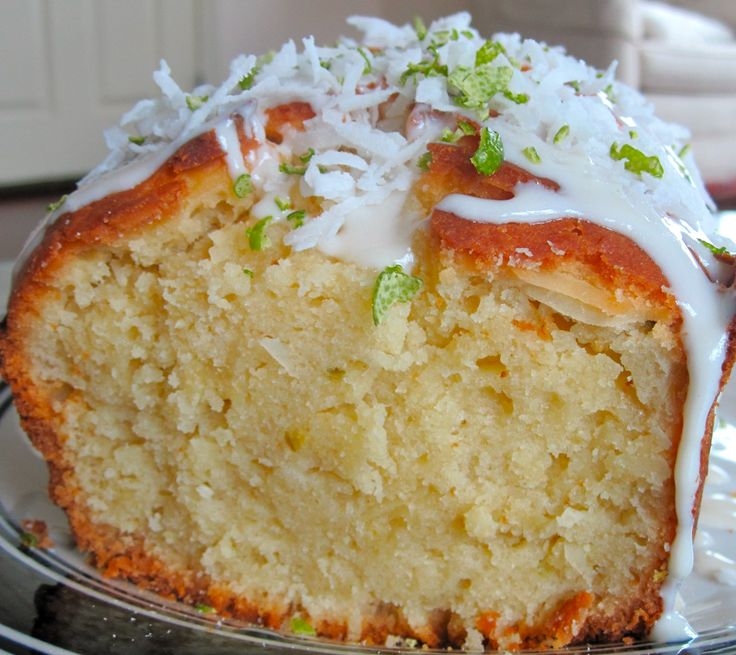 Vanilla Coconut Key Lime Pound Cake | What's cookin? | Pinterest