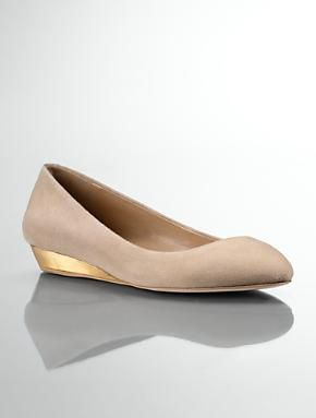 Talbots - Mila Almond-Toe Suede Leather Demi-Wedges | Flats | Medium
