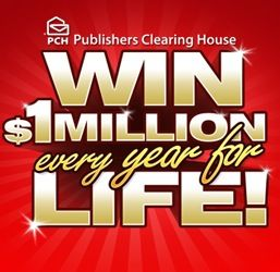 win $1 million every year for life! Enter the Publisher's Clearing