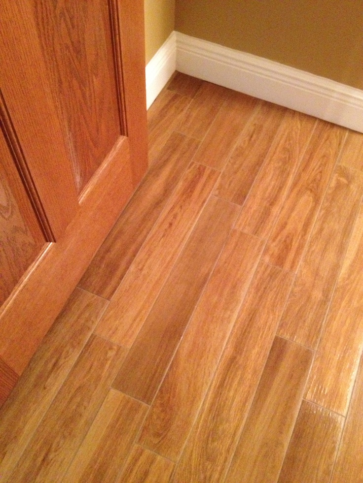 Porcelain Tile Looks Like Wood Flooring Pinterest