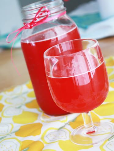 Raspberry Lemonade 1c (about 6oz) raspberries (thawed if frozen) 2/3c ...