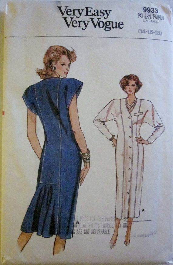 Vogue 9933 Womens Straight Dress Pattern by Denisecraft on Etsy, $9.99