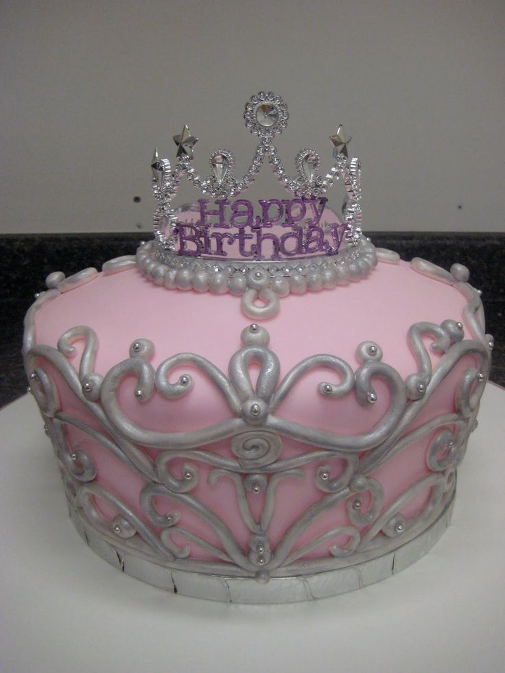 Princess Crown Cake Pictures : crown cake Princess Cakes Pinterest