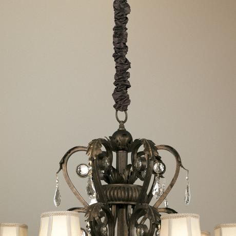 long chandelier chain cord cover brown silk dupioni fabric adhesive