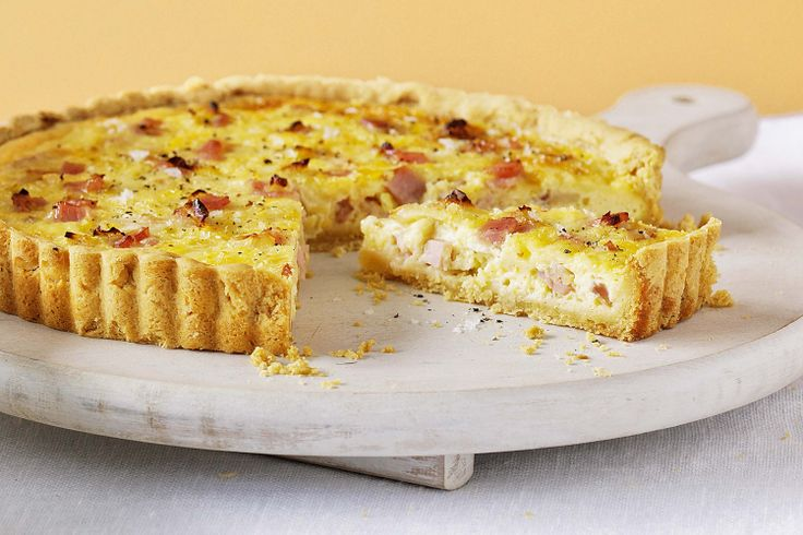 Leek, bacon and cheddar quiche | Recipes | Pinterest