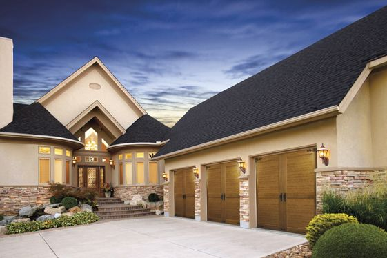 Pin by clopay garage doors and entry doors on wood look for Composite garage doors that look like wood