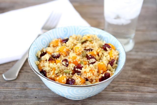 Quinoa Salad with Butternut Squash, Dried Cranberries & Pepitas-a ...