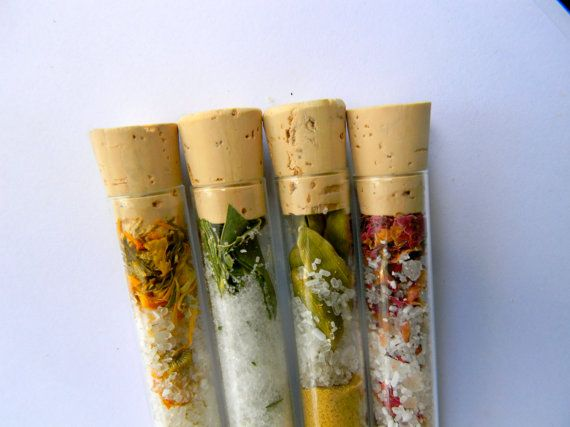Organic Bath Salts4 Test Tubes Sampler Set100 by KhushiOrganics, $11.00