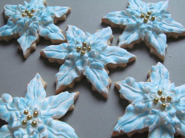 Poinsettia | Cookie Connection | Christmas cookies | Pinterest
