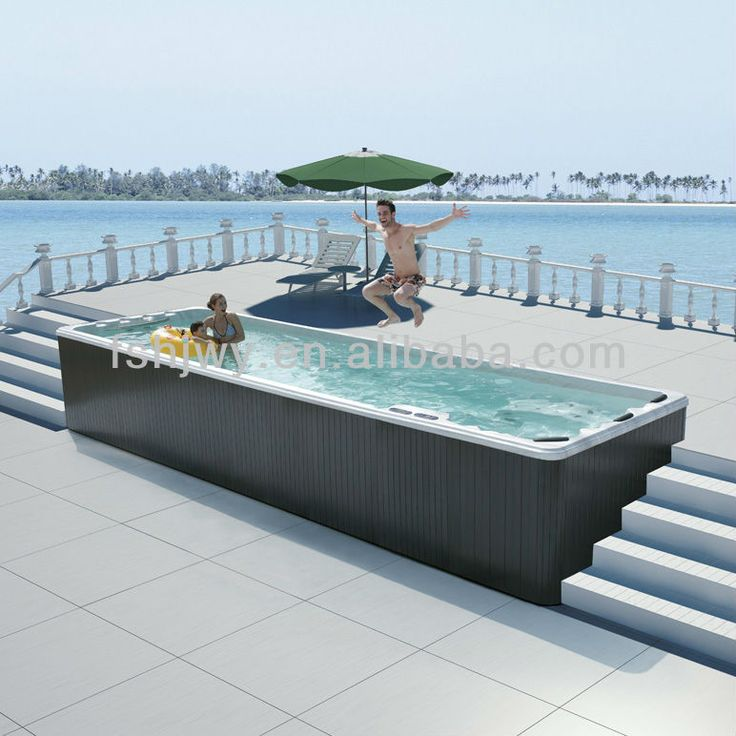 large outdoor hot tubs photo - Saltwater Hot Tub