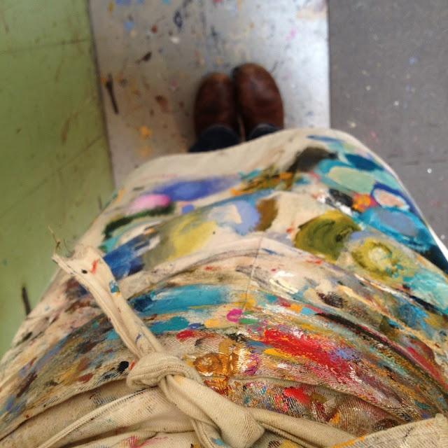 Tjasa Owen's painting apron