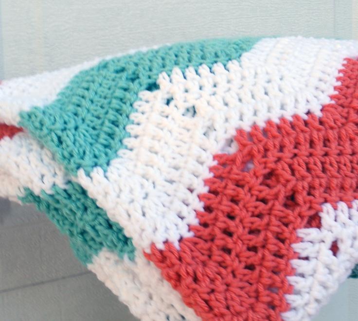 Crochet Pattern For Lap Afghan : Chevron pattern crochet afghan, travel blanket, lap ...
