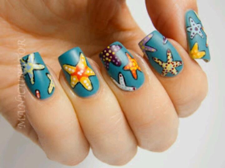 starfish nail art | Starfish Nail Art | Pinterest