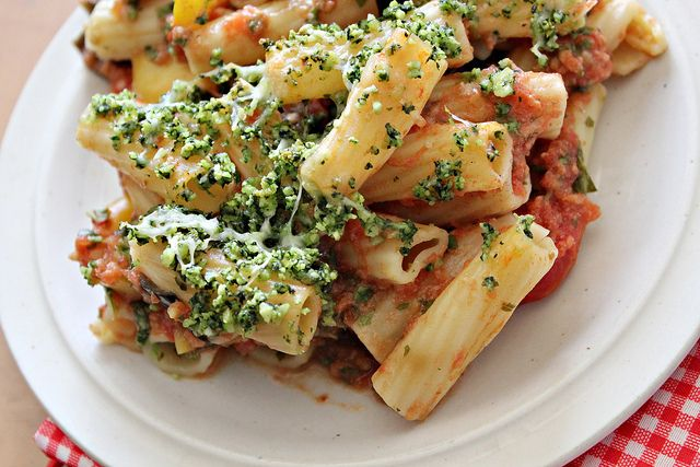 Rigatoni with Eggplant and Pine Nut Crunch...Eat.Live.Be. for a Better ...