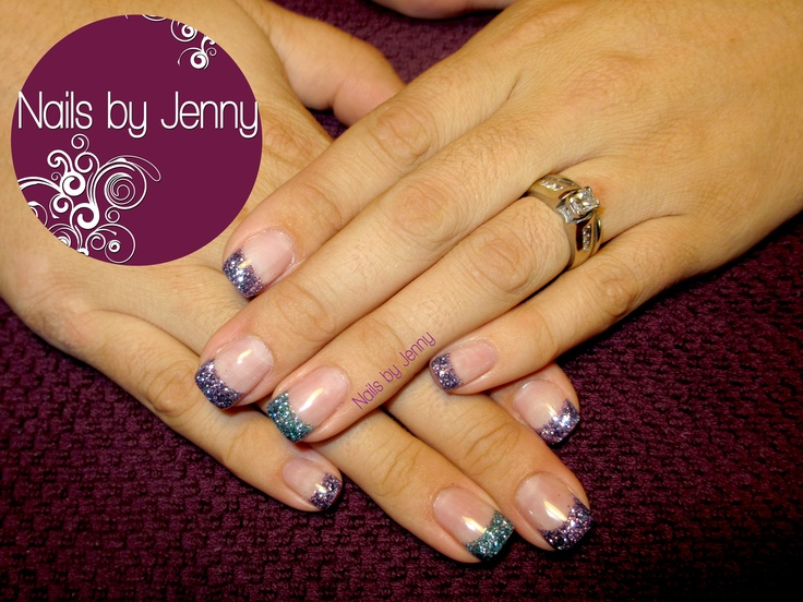 Gel Backfill with Glitter Tips -- Nails by Jenny in St. George, Utah