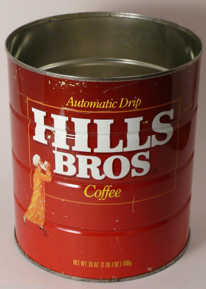 Hills bros coffee can vintage advertising automatic drip - What are coffee cans made of ...
