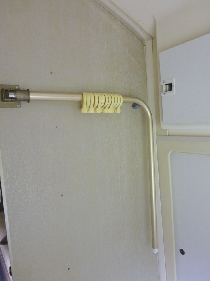 folding shower curtain rod | Our Airstream | Pinterest