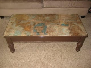Coffee table redo craft ideas pinterest for Redo table top ideas