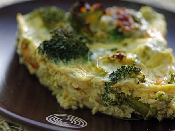 Crustless Broccoli and Cheese Quiche 2 PP per serving.