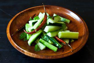 jeffrey alford amp naomi duguid s spicy cucumber salad