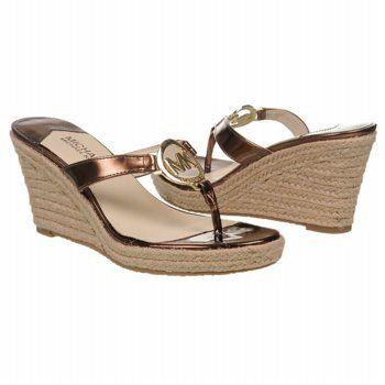 MICHAEL MICHAEL KORS Palm Beach Thong Sandals (Cocoa Metallic) - Women