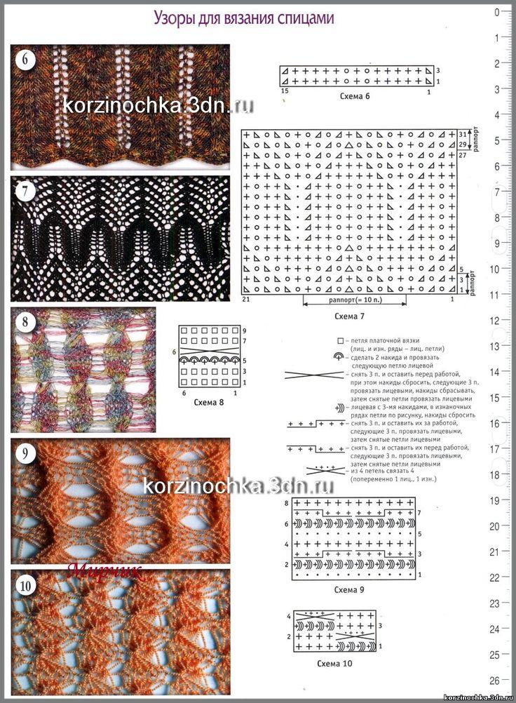 1000 схем узоров вязания на спицах