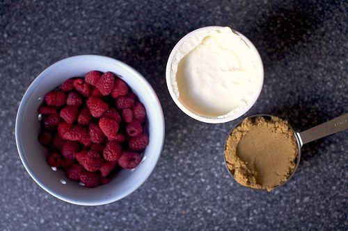raspberry brown sugar gratin - just three simple ingredients!