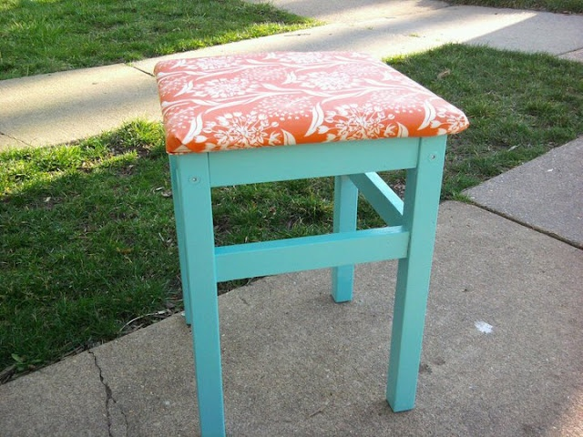 ...for an upholstered stool (ikea hacking)