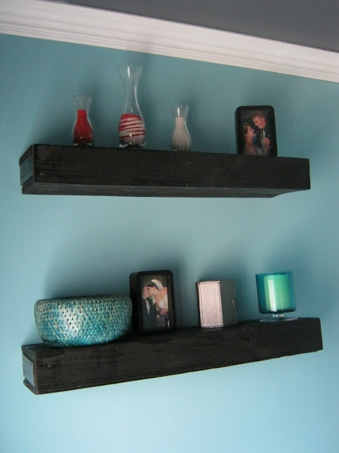 Floating Shelves Made Out Of Pallets Color Pinterest