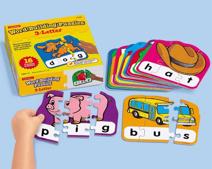 3 letter word building puzzles language arts pinterest With 3 letter word building puzzles