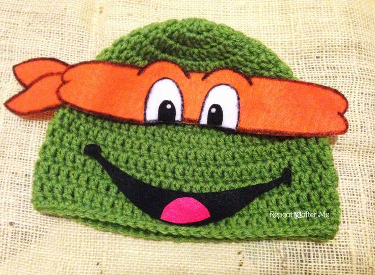 Ninja Turtle Crochet Baby Hat Pattern : Pin by Linda Bush on Crochet hats Pinterest
