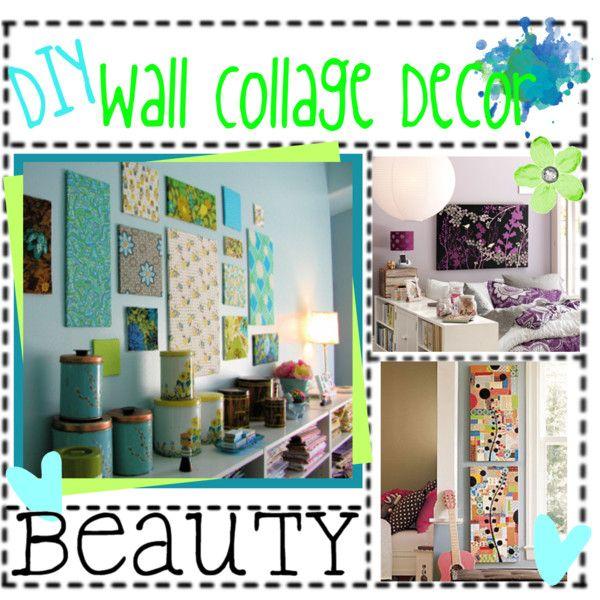 Diy Wall Art Collage : Diy wall collage decor craft ideas