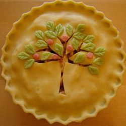 Apple pie artfully delish pie crusts and decorating for Apple pie decoration