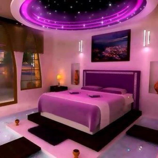 Purple Sky Glow Interior Design Pinterest