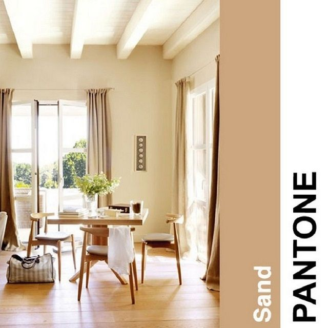 How to decorate with 2014 Pantone color trends | Home Design Ideas | Pantone Sand #2014trend #colour