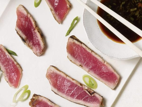 Tuna steak with asian dipping sauce recipes food pinterest for Healthy sauces for fish
